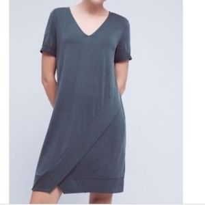 Dolan Anthropologie Green Draped Tunic Dress